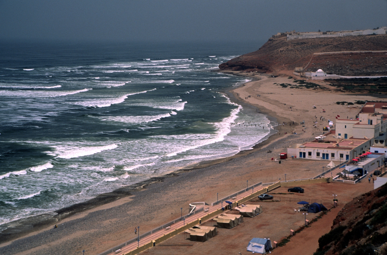 The northern end of the beach in Sidi Ifni