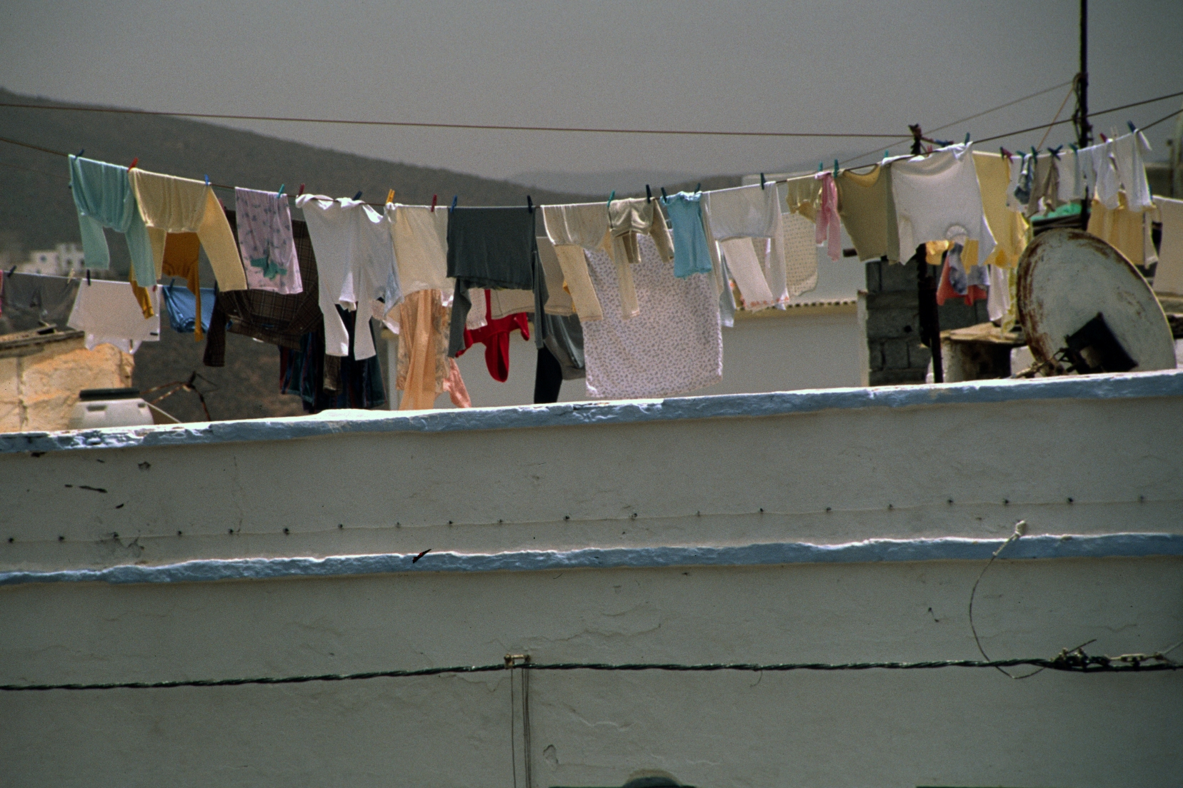 Clothes drying on the line in Sidi Ifni