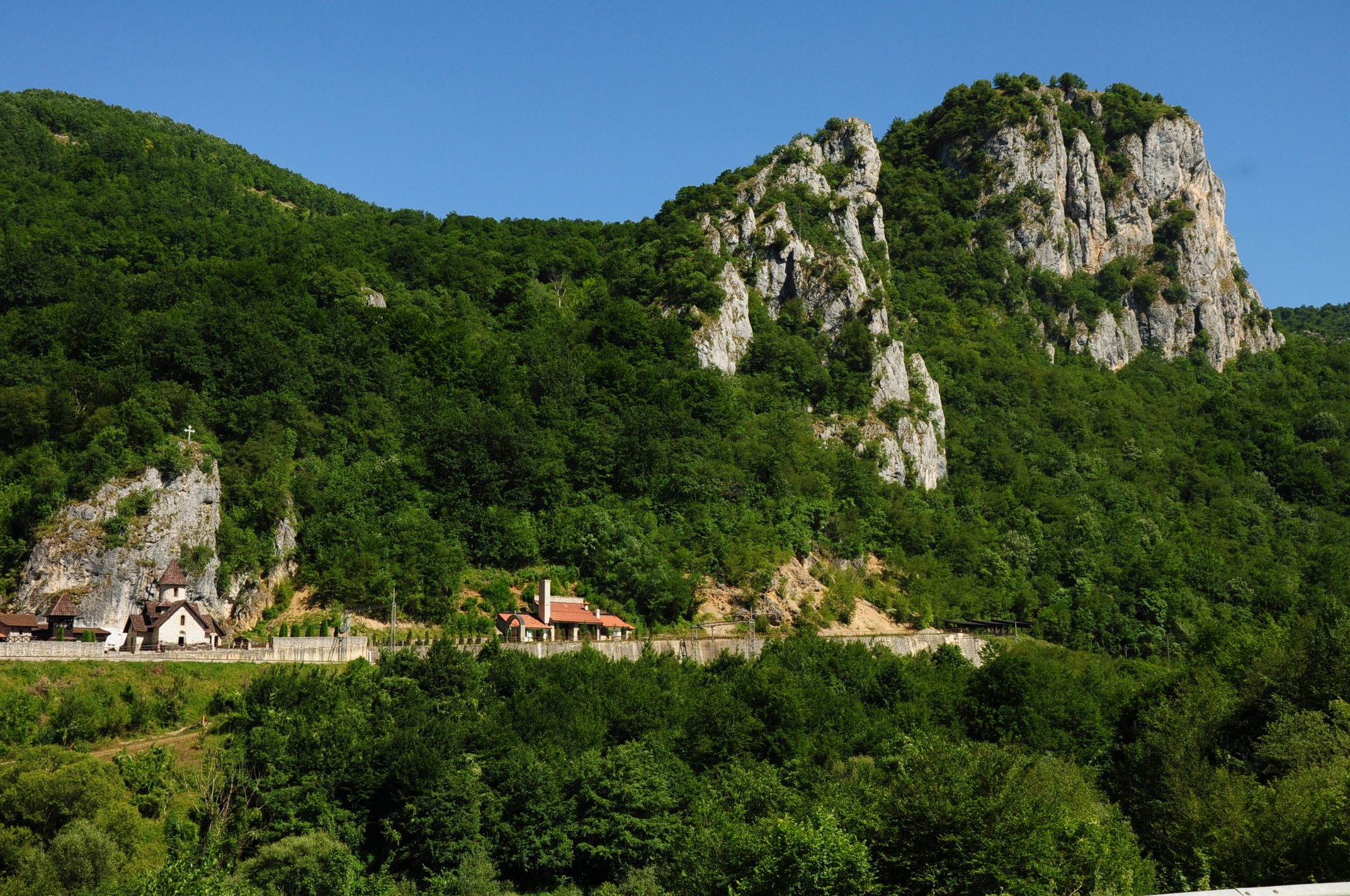 Ancient monastery on the border of Serbia-Montenegro