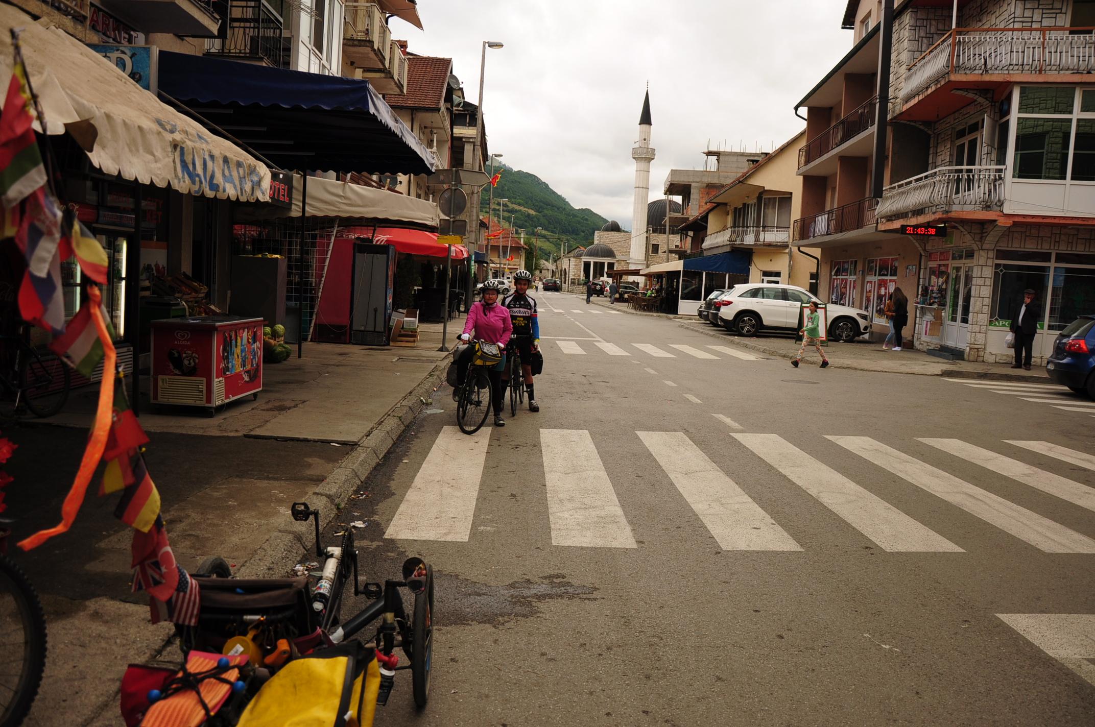 The main street in Gusinje
