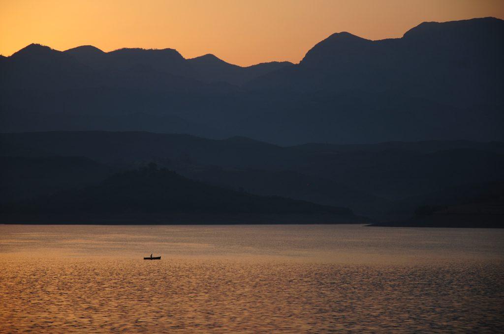 Fishing boat on Ulez Lake