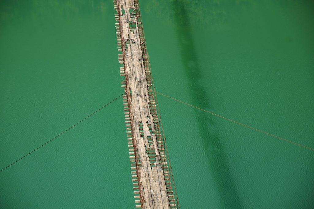 Rickety bridge in Albania