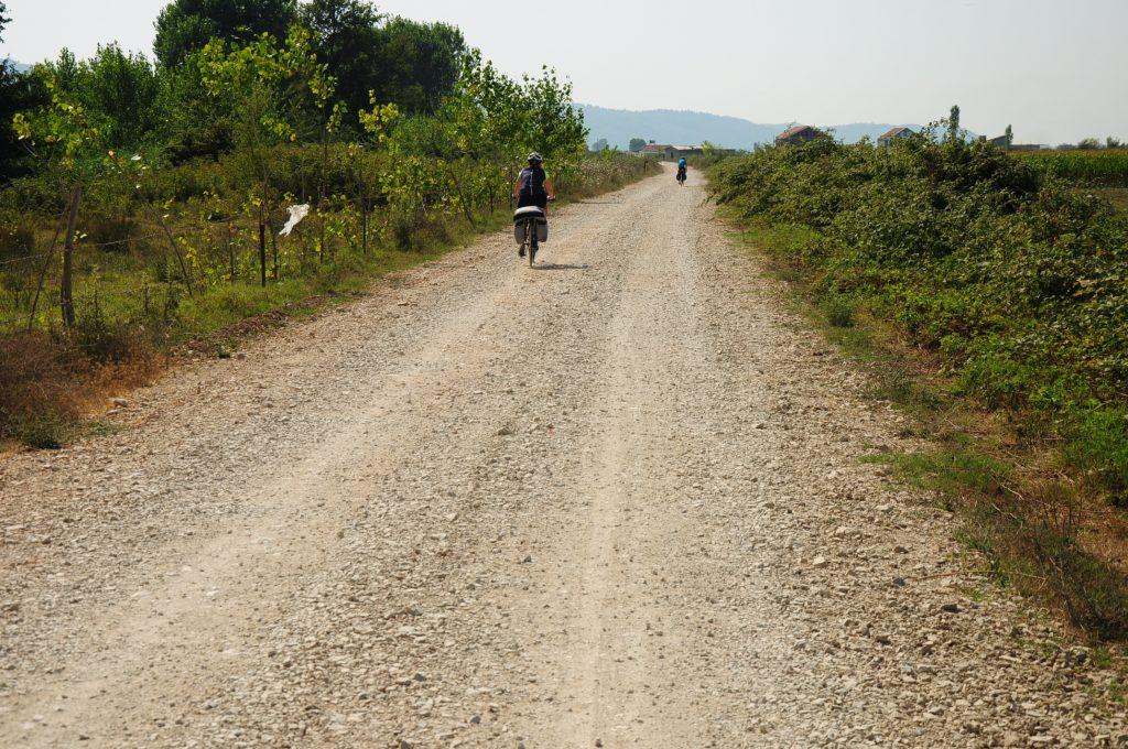 Gravel road in Central Albania