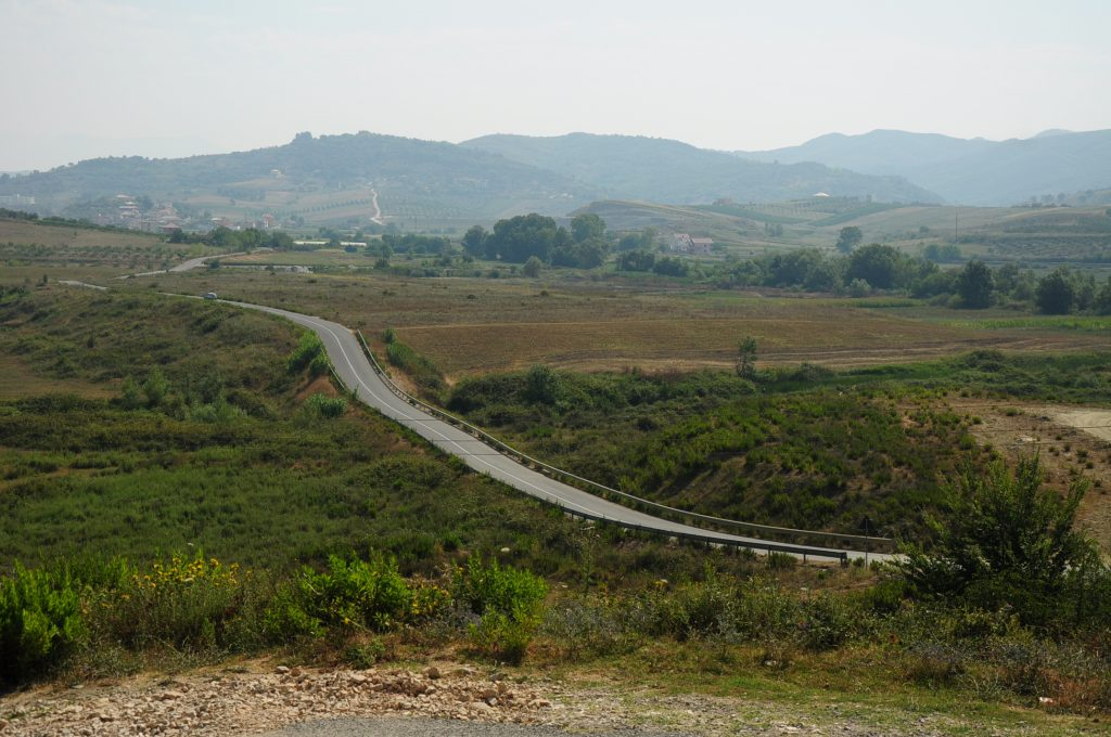 View from a small hill near Durres