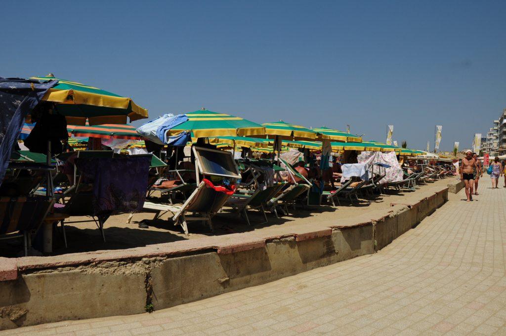Tengerpart Durres belvárosában
