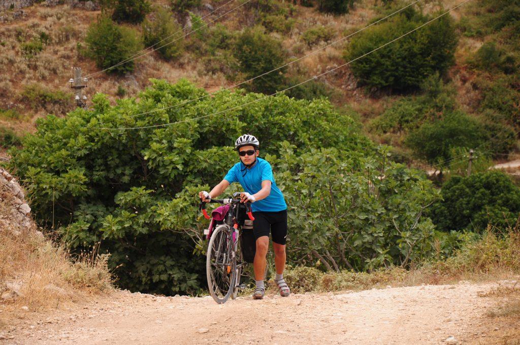 Struggling uphill