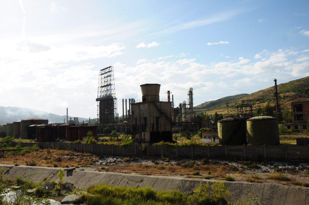 Old factory in Bellsh, Albania