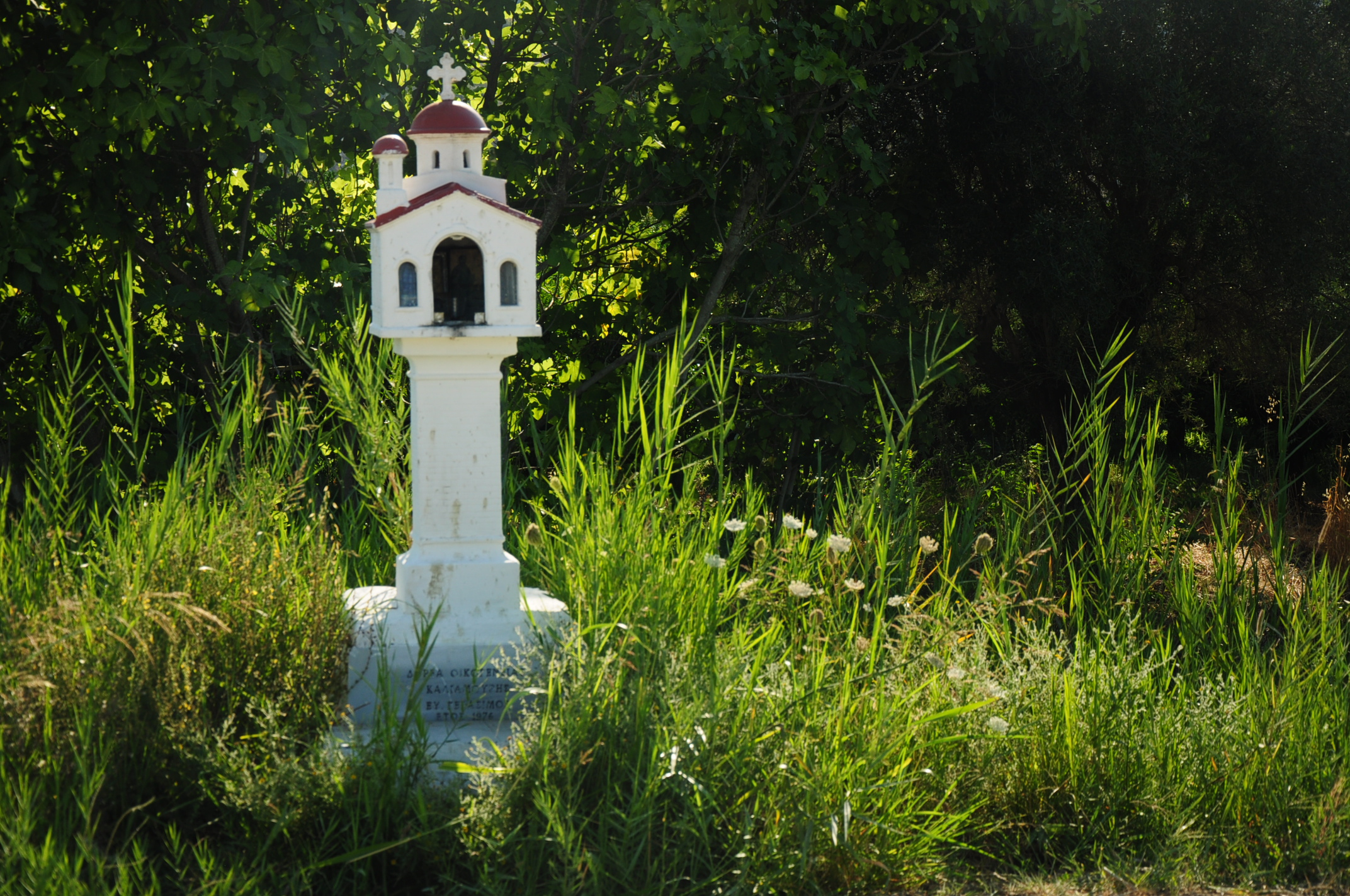 Miniature church by the road