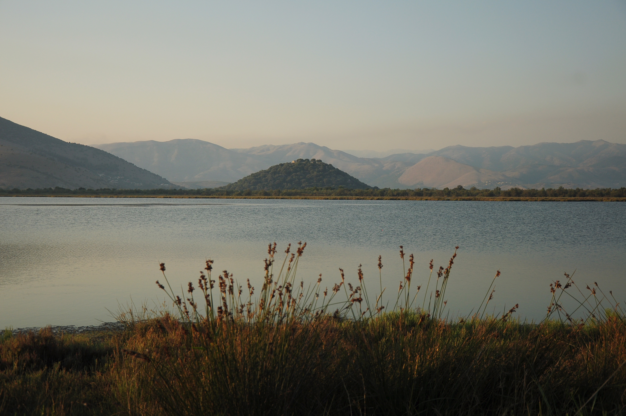 The lagoon in the evening. Beautiful but full of mosquitoes...