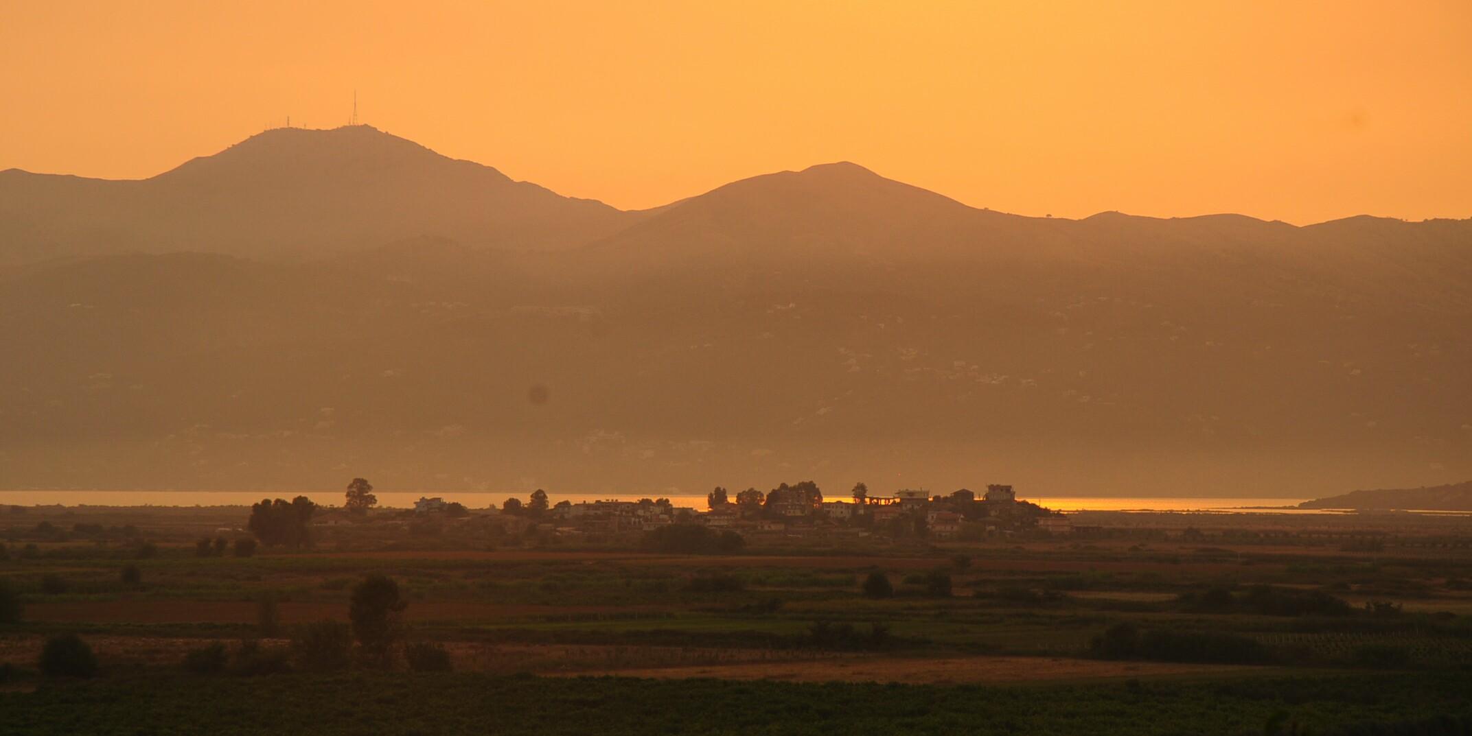 Magical sunset near Butrint