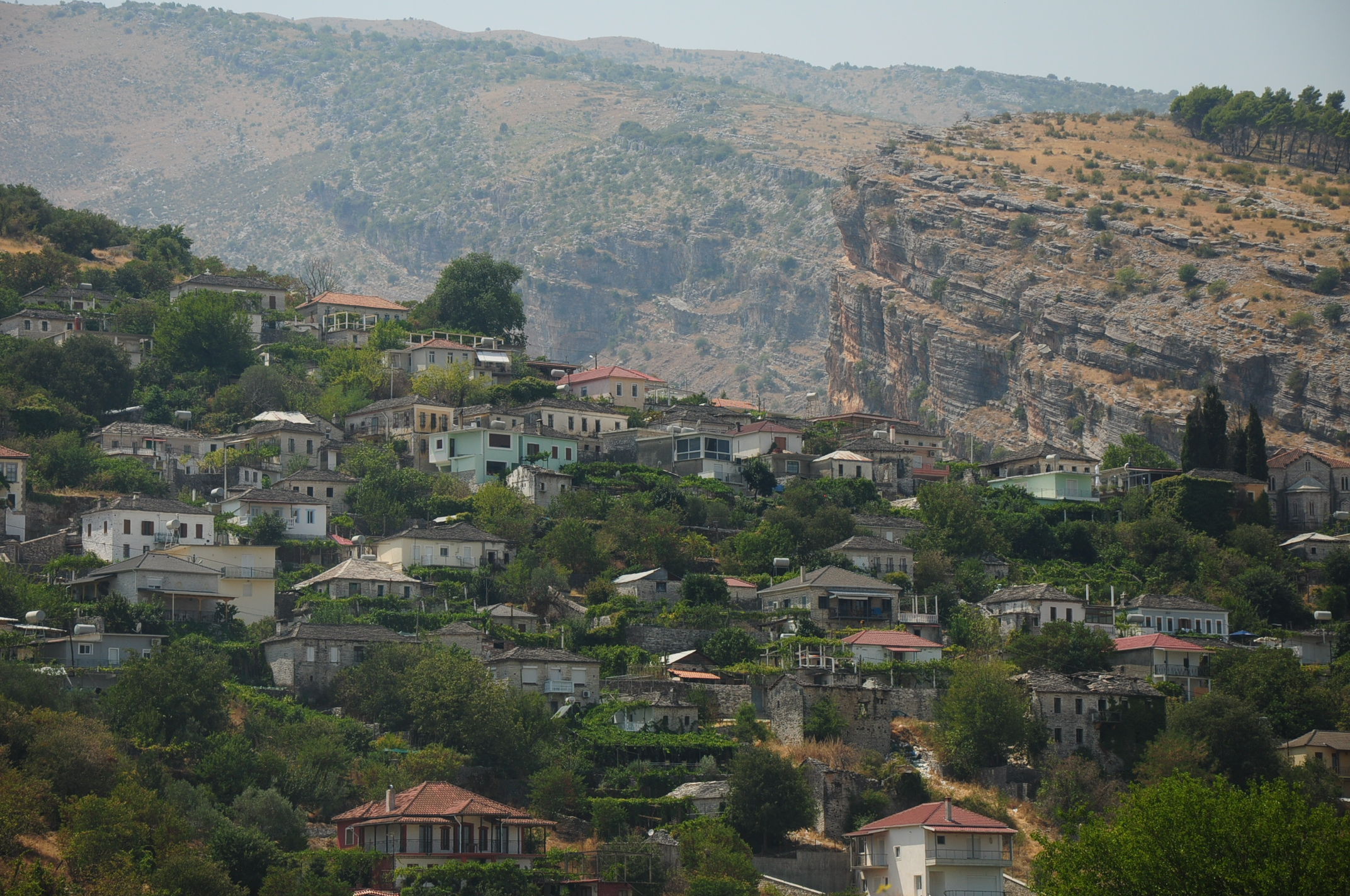 One of the Greek villages set in a dramatic environment