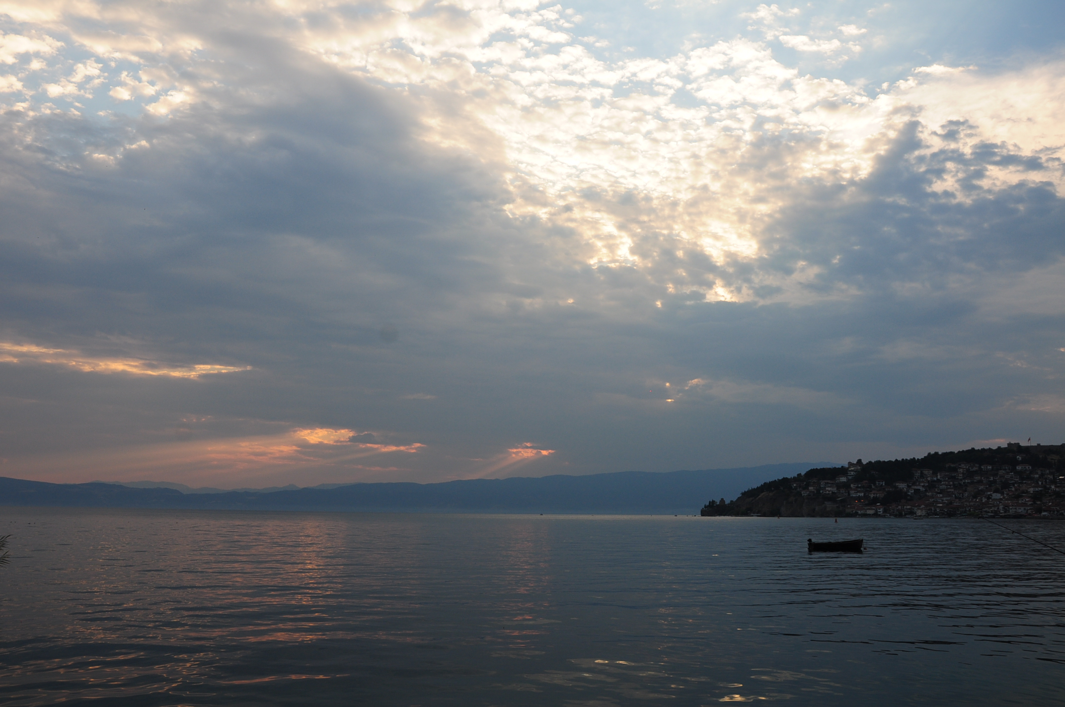 Late afternoon lights in Ohrid