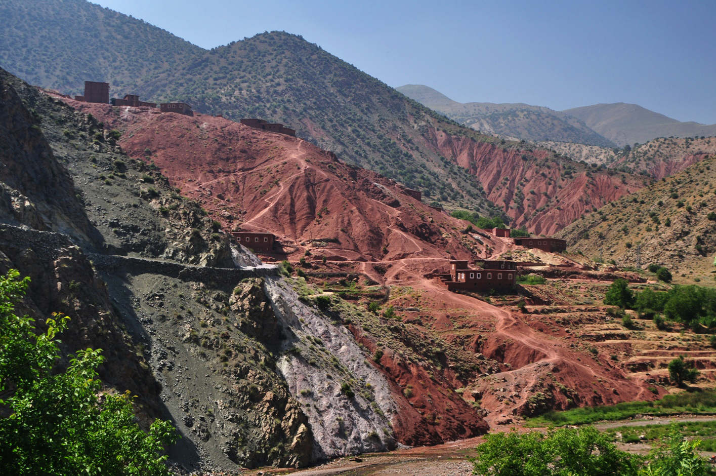 Multicolour mountain