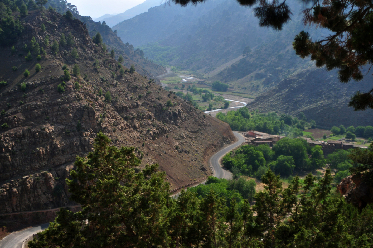 View of the Lakhdar Valley