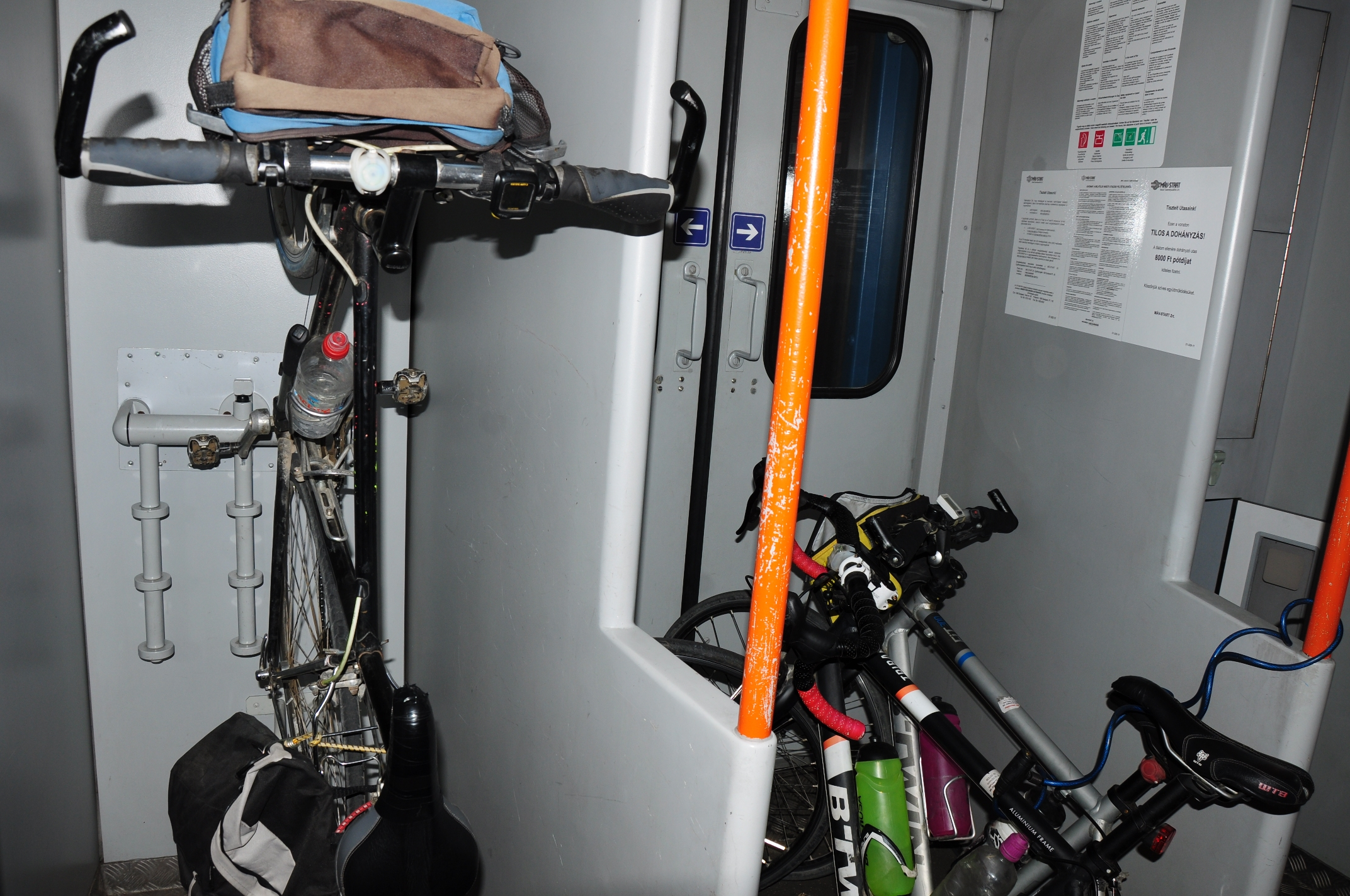 Bicycle storage area in each carriage