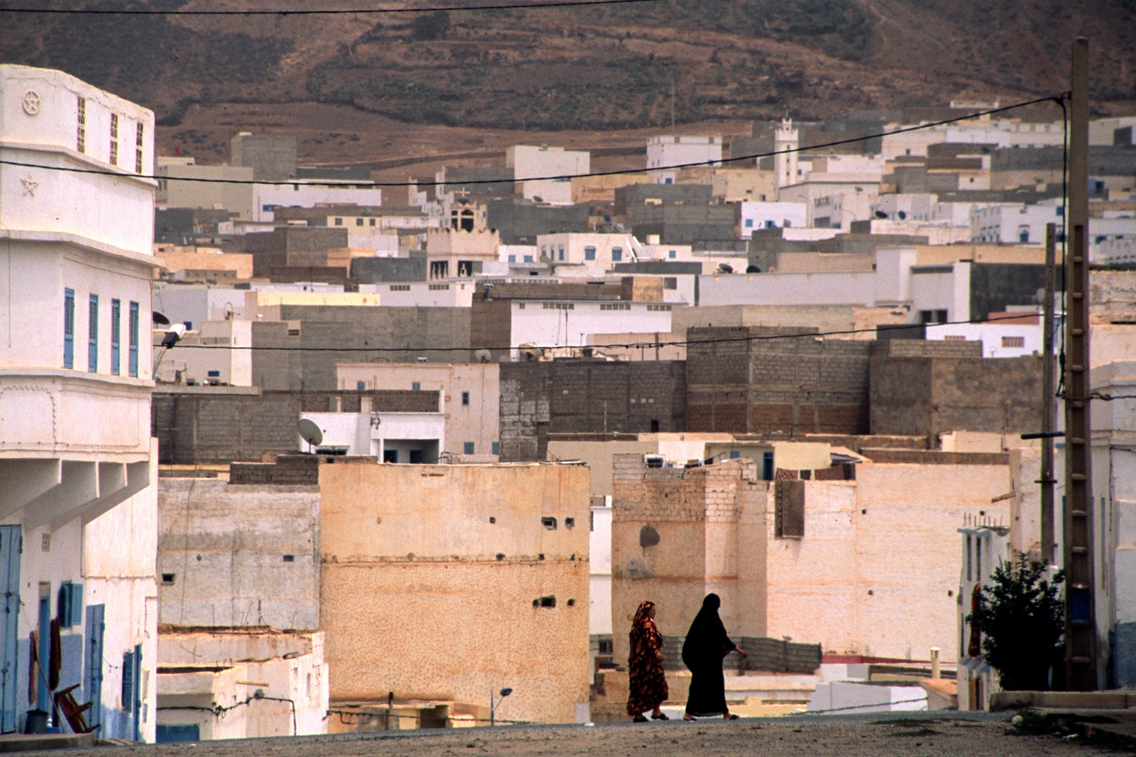 Women in the street in Sidi Ifni