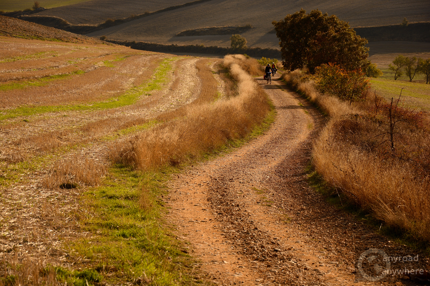 Some pilgrims ride bicycles - it can be challenging on some dirt roads