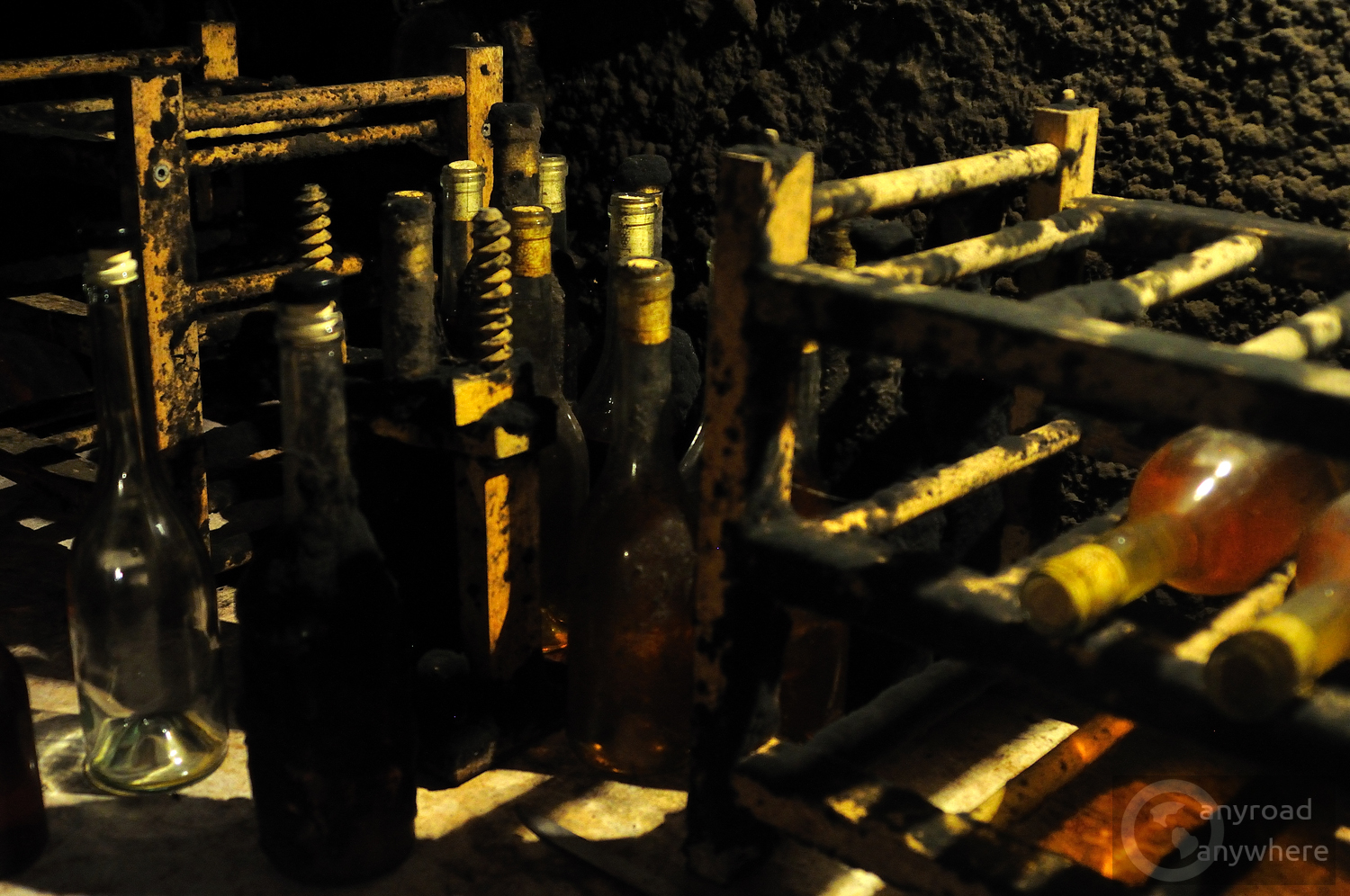 The black 'noble mould' that covers cellar walls and bottles is an important part of the wine-making process