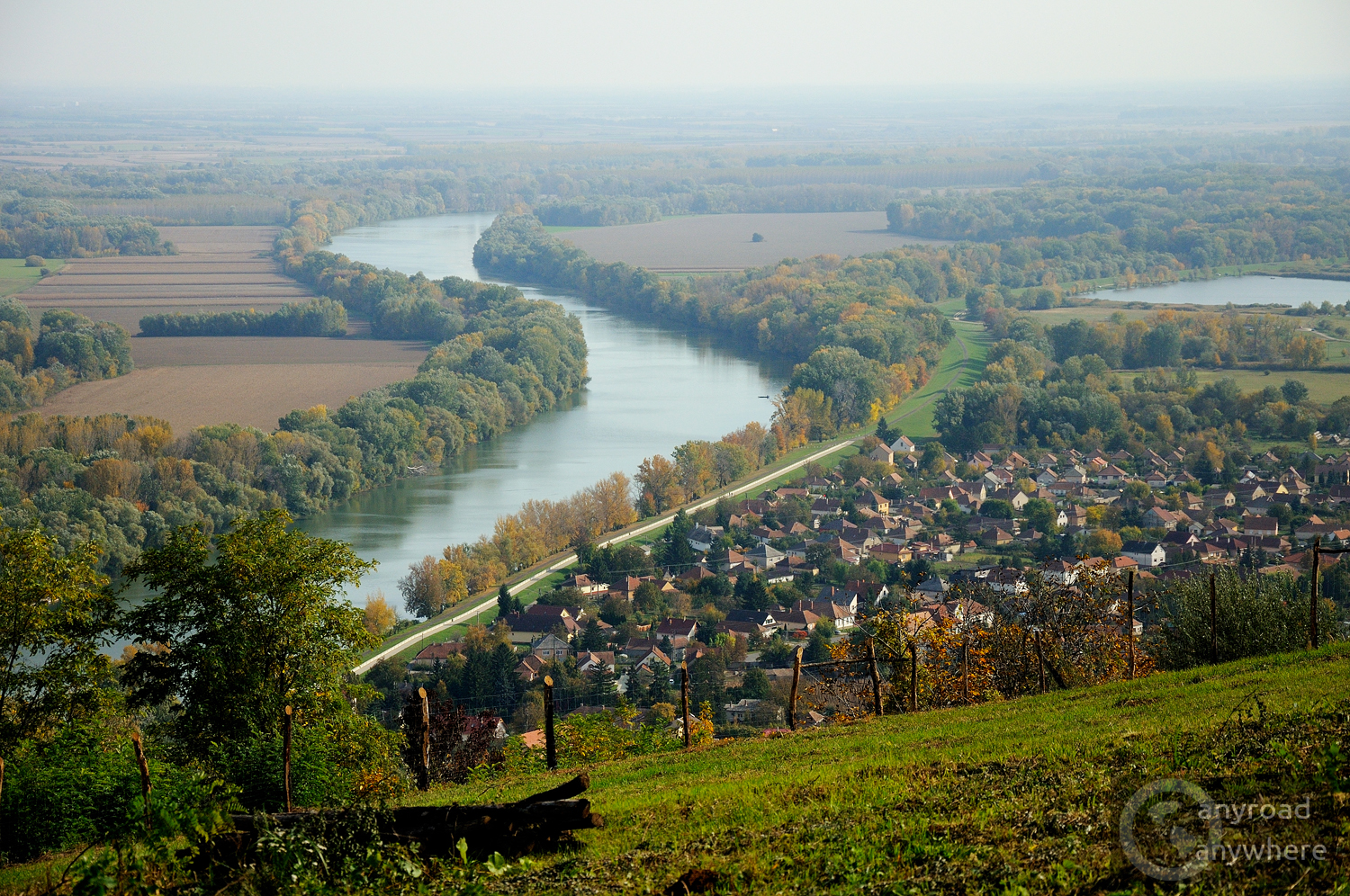 The Tisza meanders by Tokaj