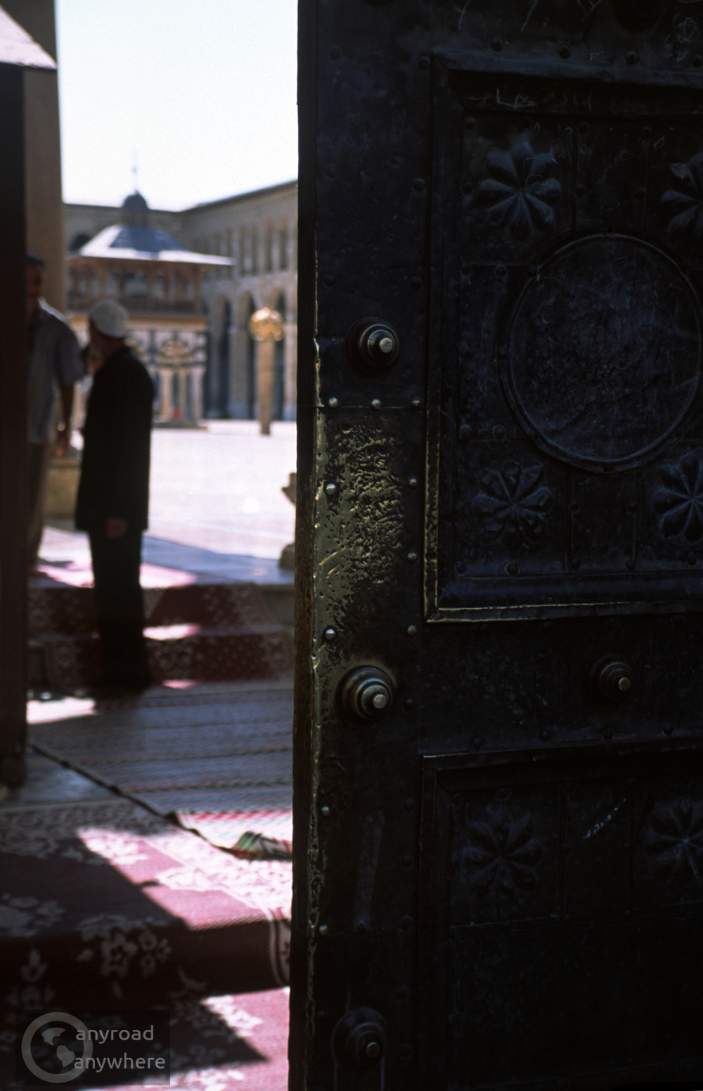 A gate leading to the inner yard of the famous Omayyad Mosque of Damascus