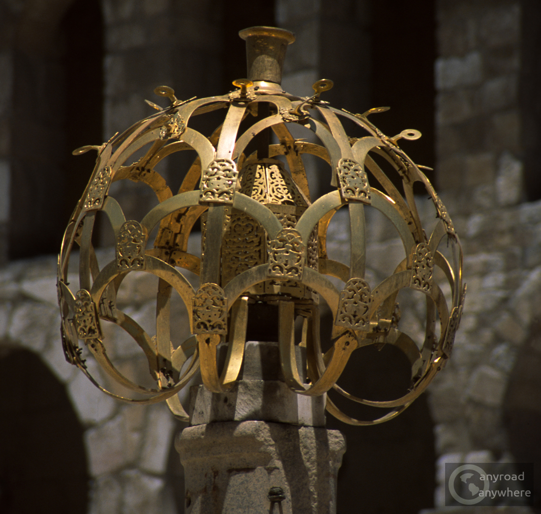 Elaborate ornament in the yard of the Omayyad Mosque in Damascus