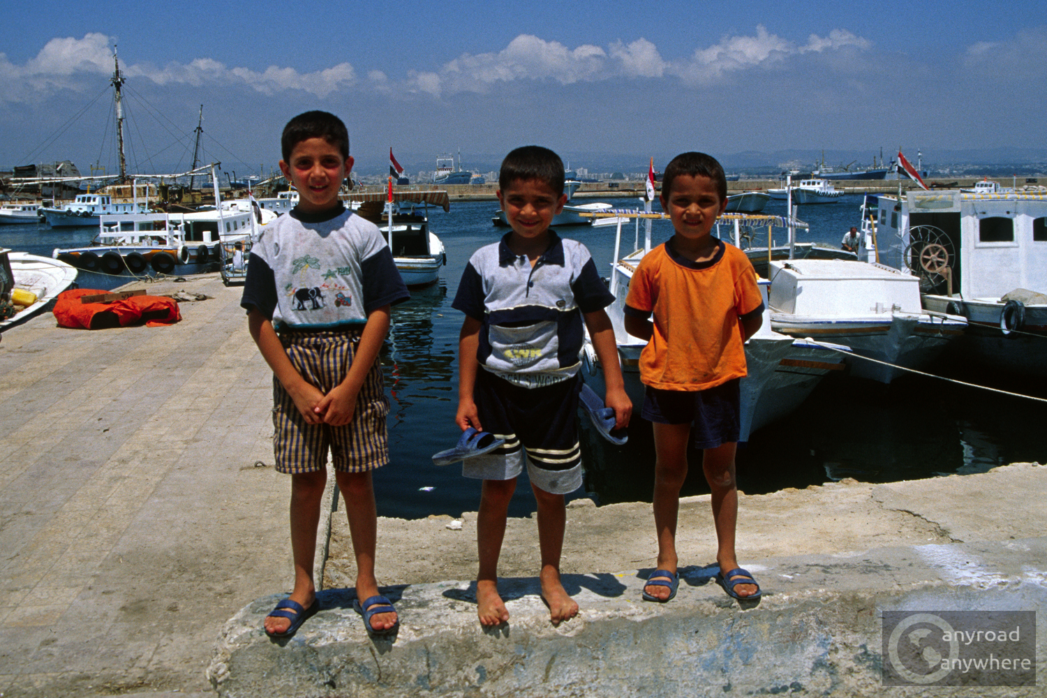 Three lovely kids we met in the port of Tartus