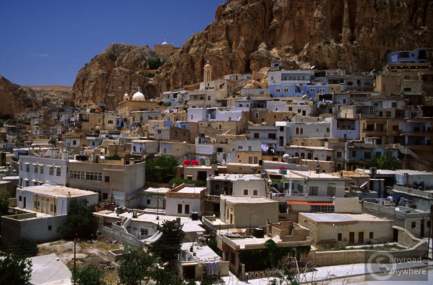 The blue village of Maalula