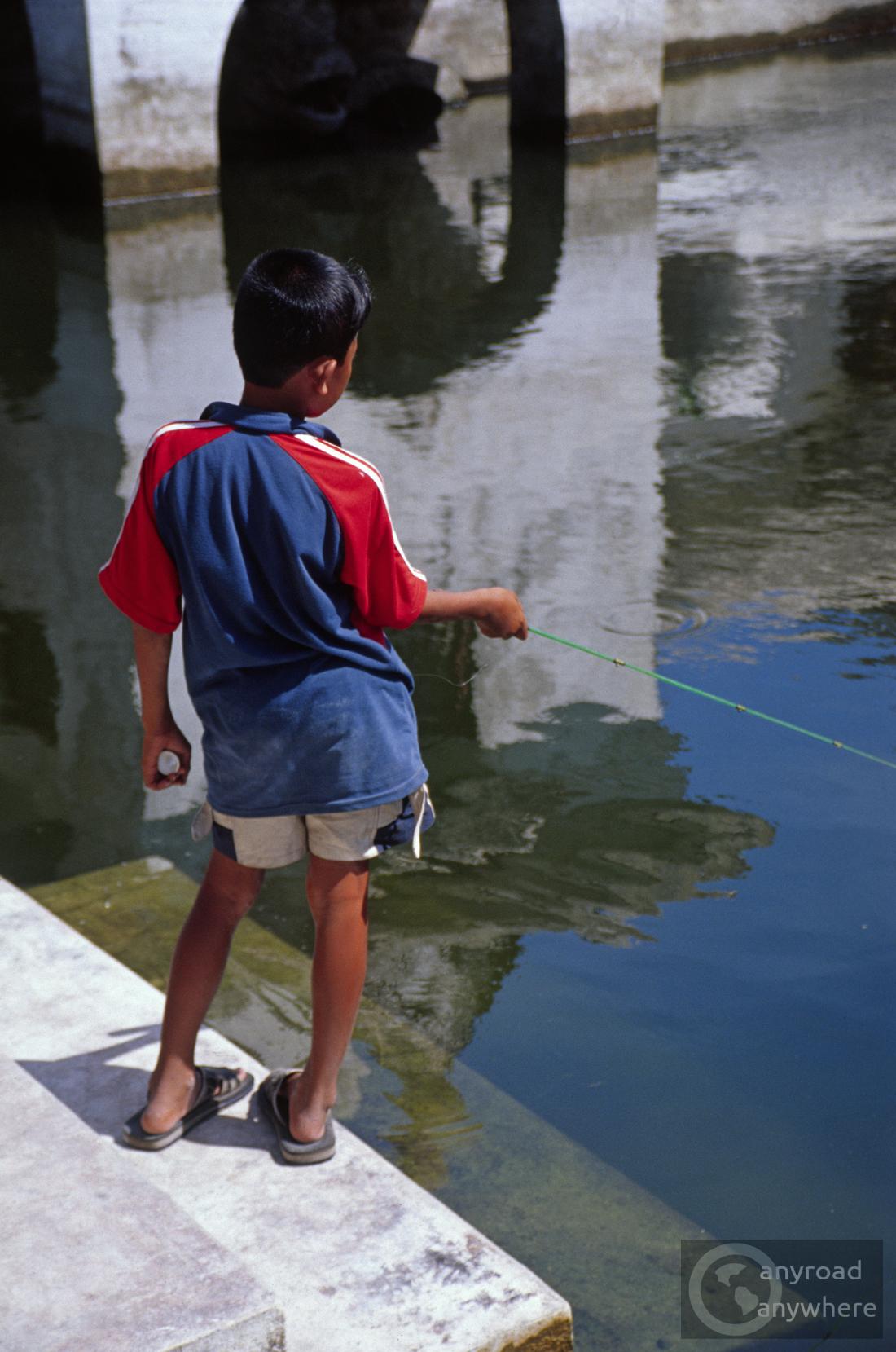 Boy in Yogyakarta's water palace