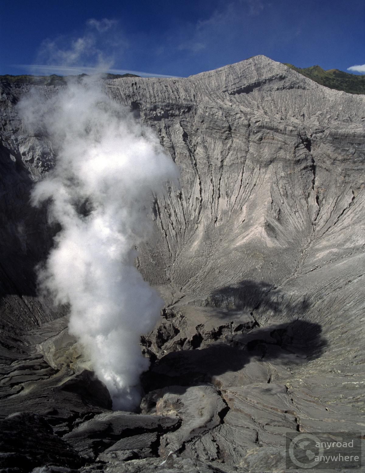 The crater of the young volcano