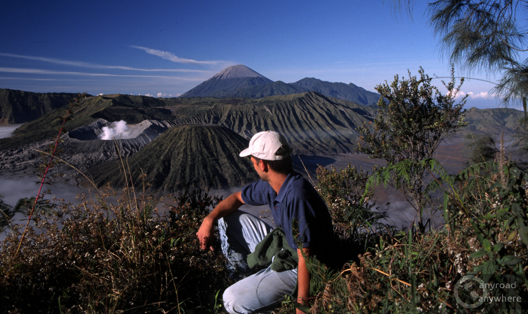 Enjoying the well-deserved view of Bromo and the other volcanoes
