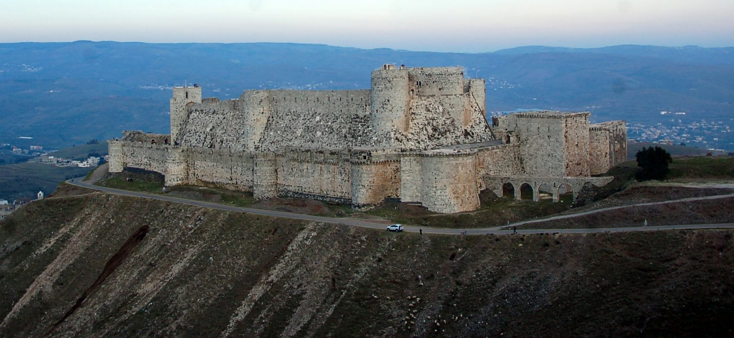 A magnificent example of Crusader castles, Krak de Chevaliers