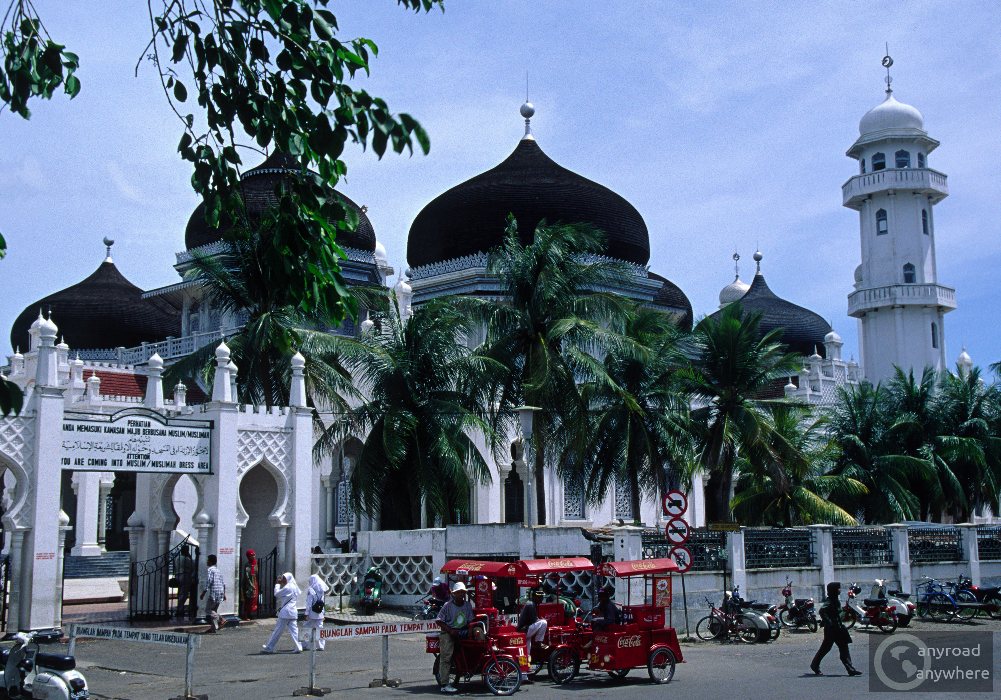 Baiturrahman Grand Mosque in Banda Aceh is arguably one of the most beautiful of its kind in Indonesia and the symbol of Acehnese culture and nationalism.