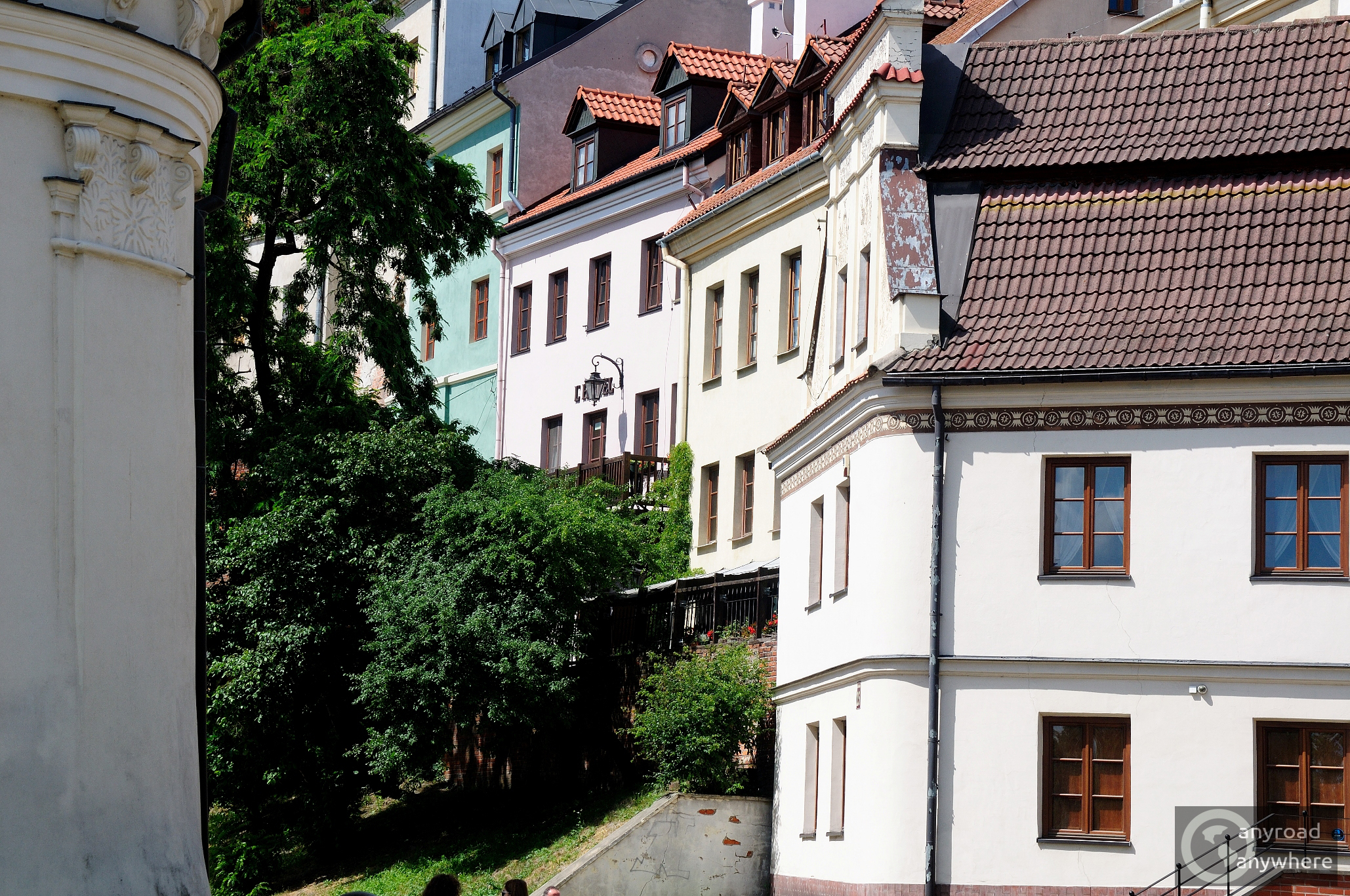 Houses in the lovely old part of Lublin