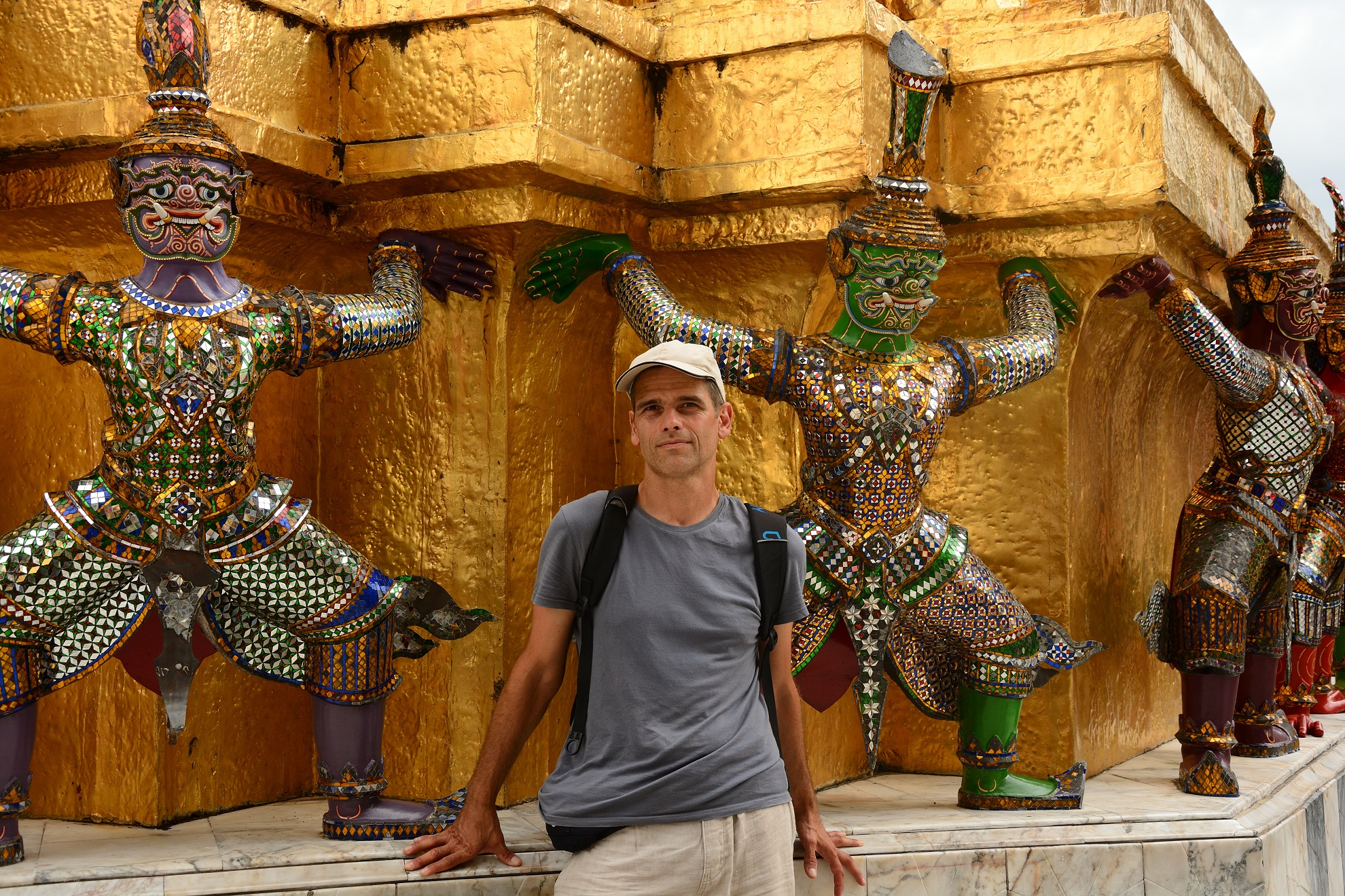 I thought I'd blend in well with the monkey statues :)