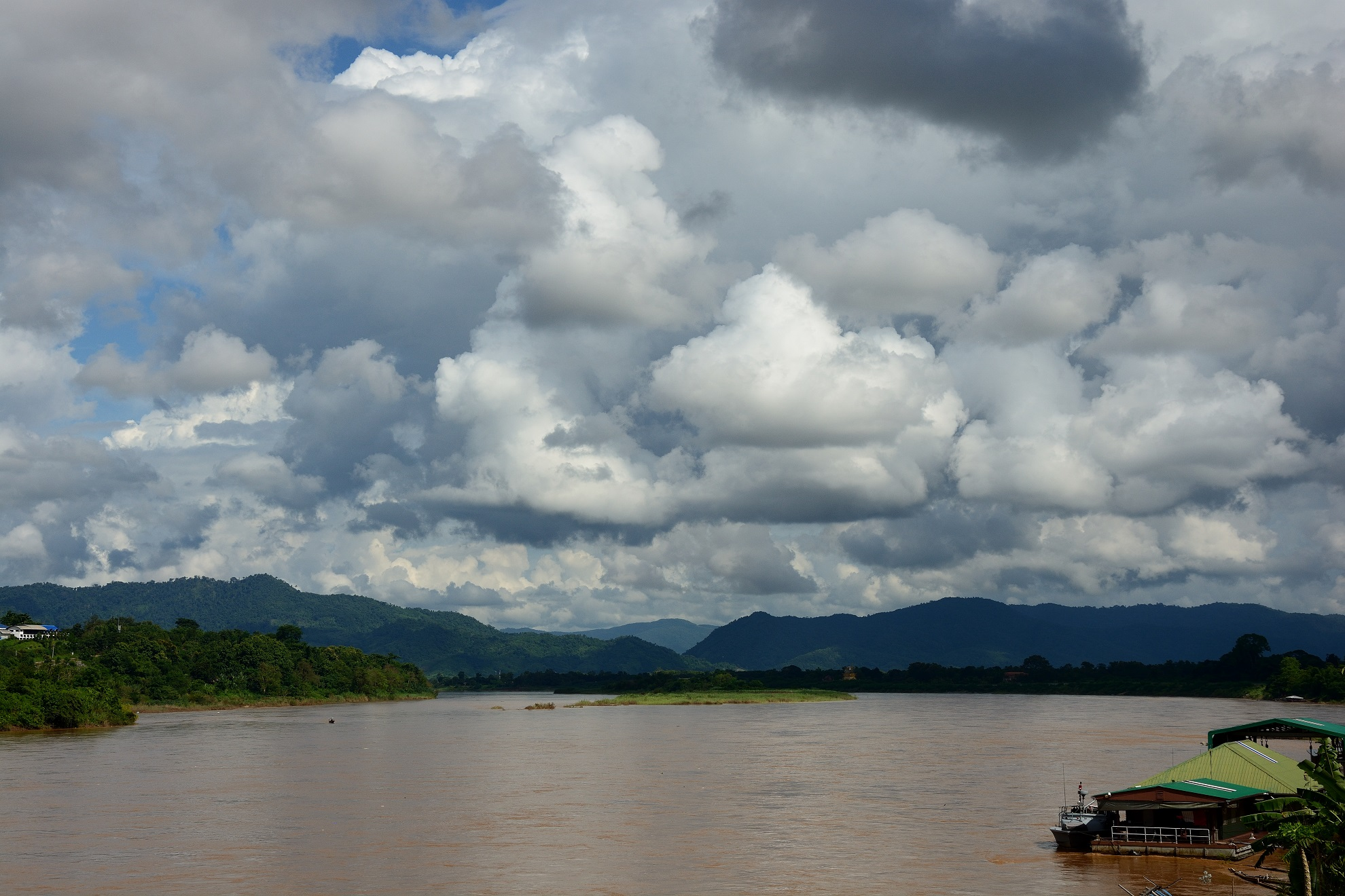 The Mekong with Laos on the other side