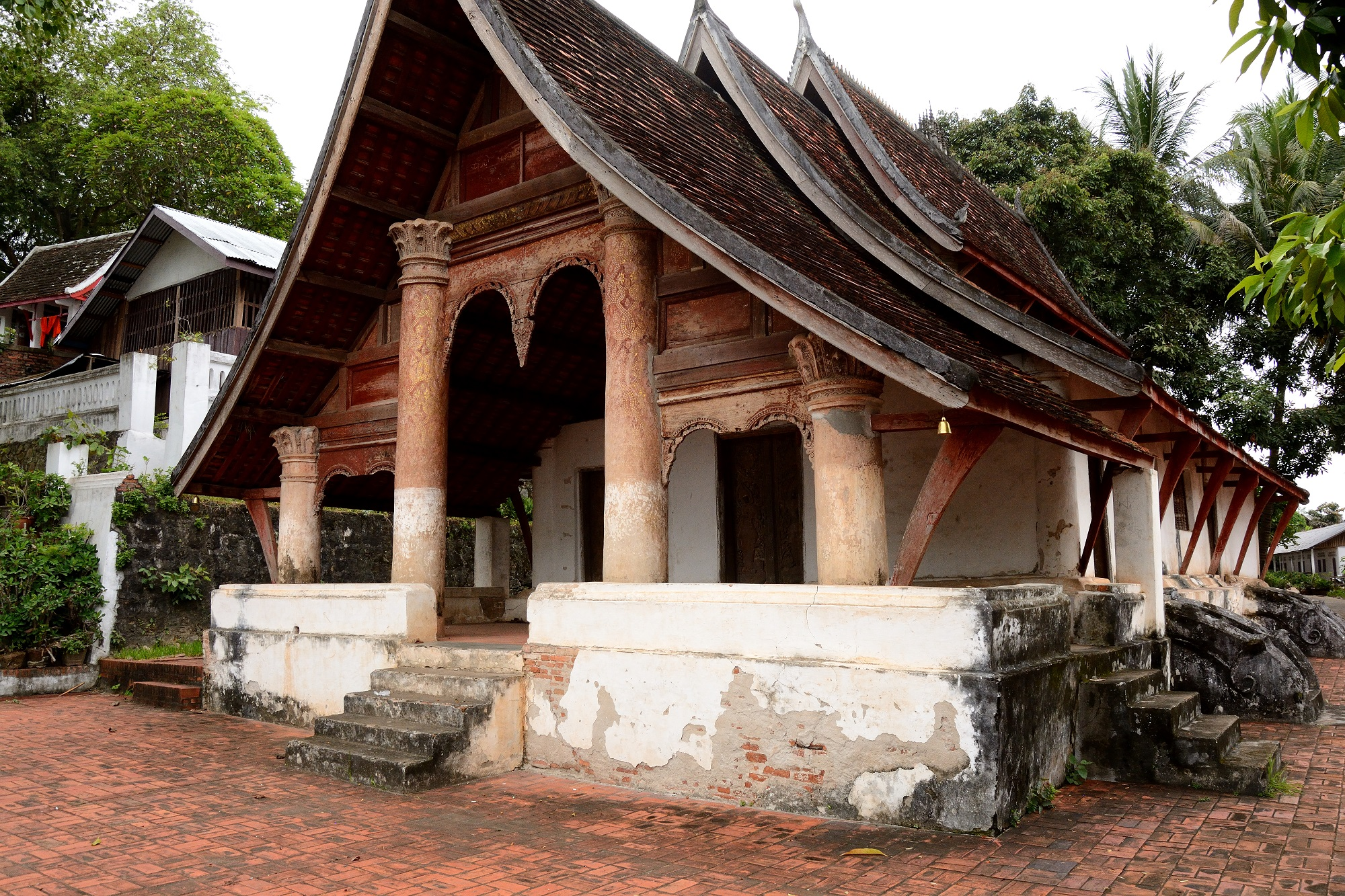 One of the magical Buddhist temples of Luang Prabang in Northern Laos