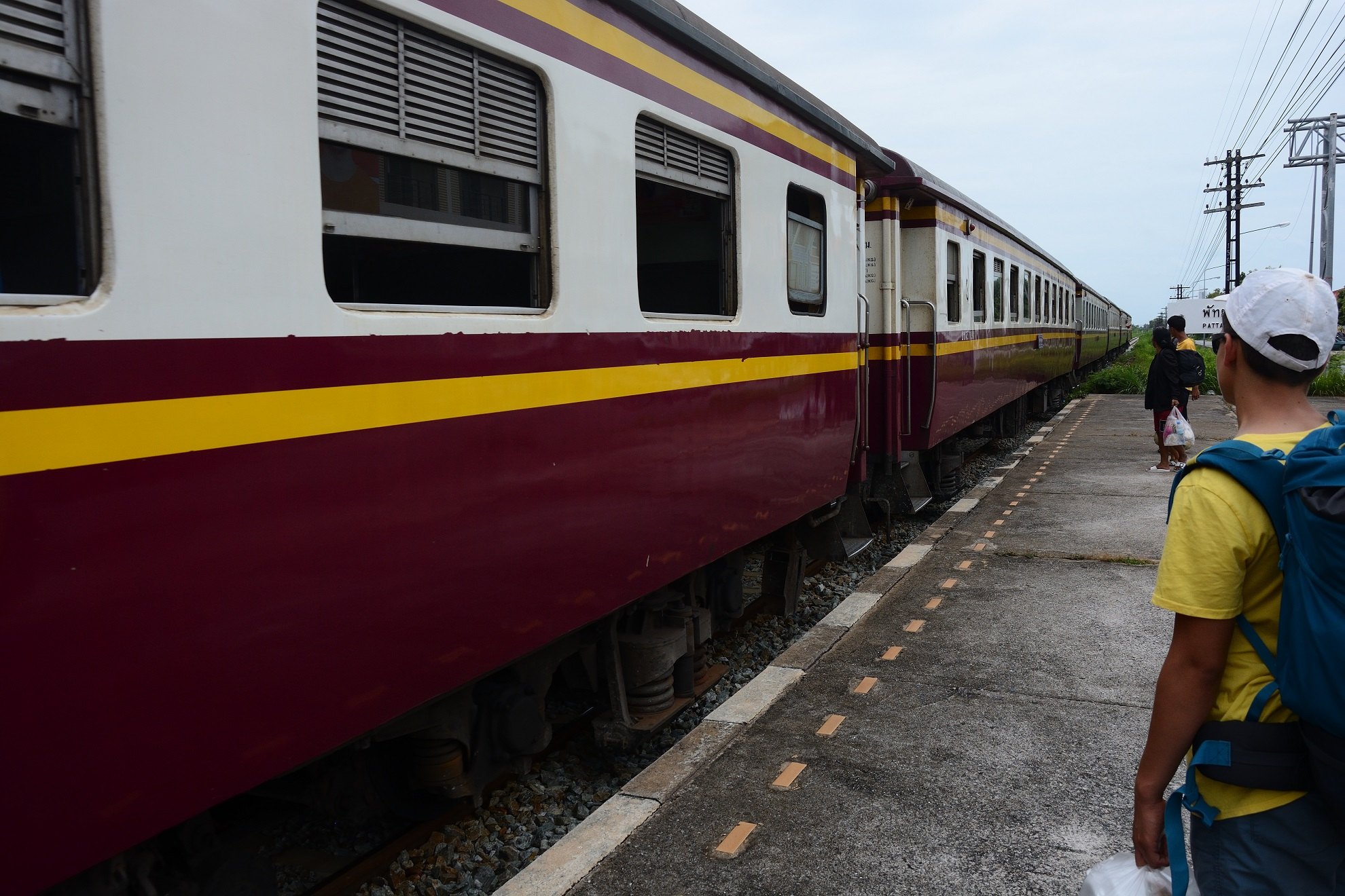 The train arrives at Pattaya South.