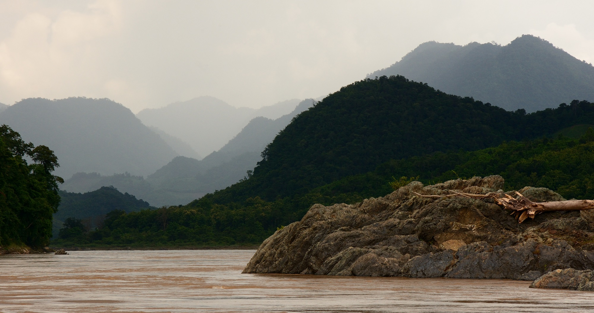 Undulating hills by the Mekong