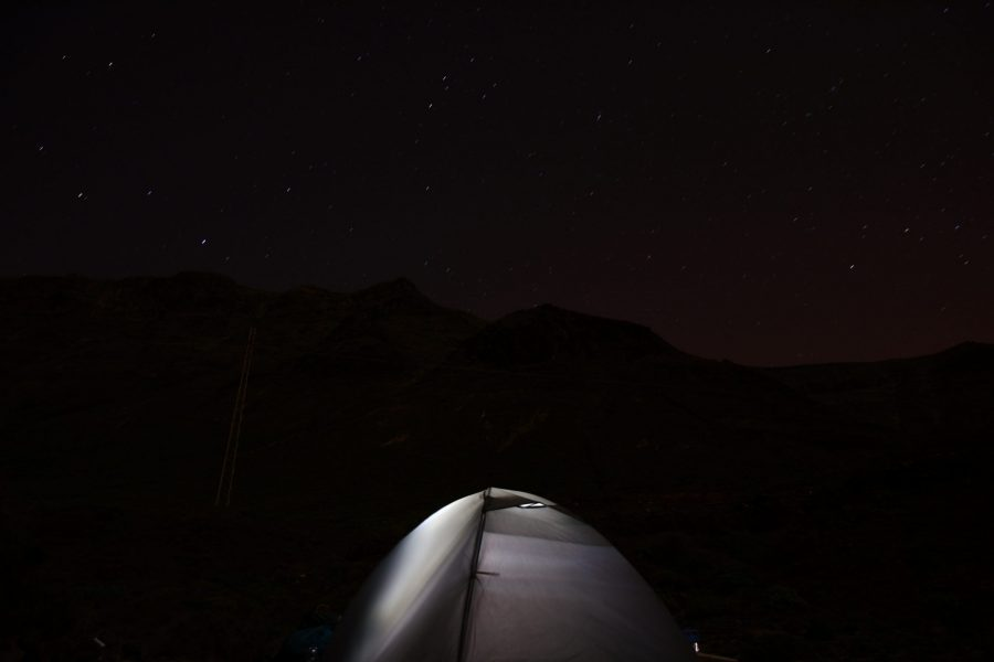 Our tent under the Risco
